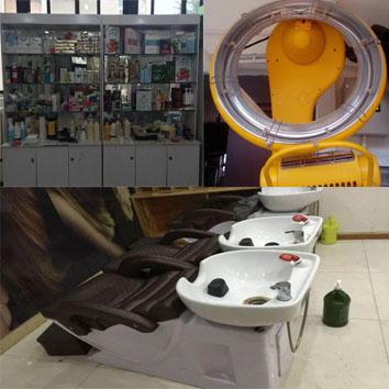 深圳美发设备回收 洗头床 产品柜